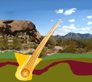 Meteorite-crashing-earth-crust-gold-precious-metal-course-school-academy