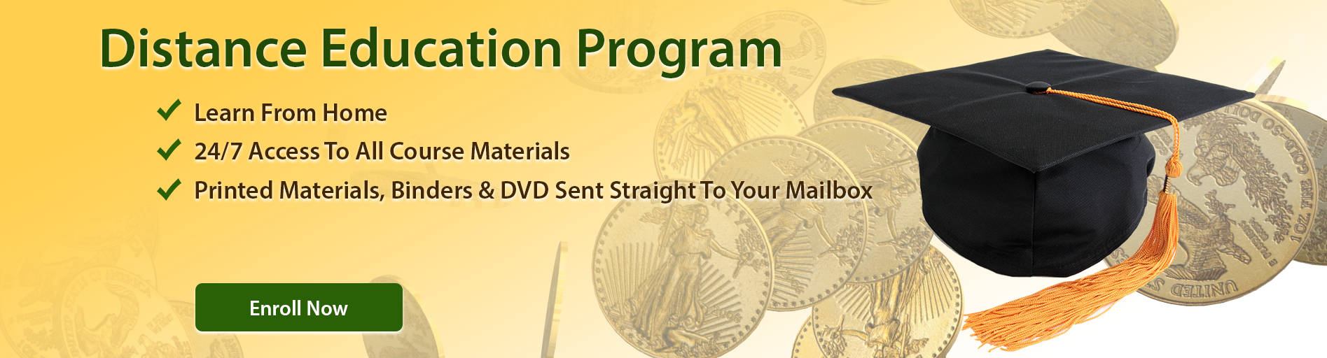Distant Education Program How to profit from gold